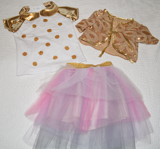 Gold and Tulle Christmas outfit by Cicely Ingleside