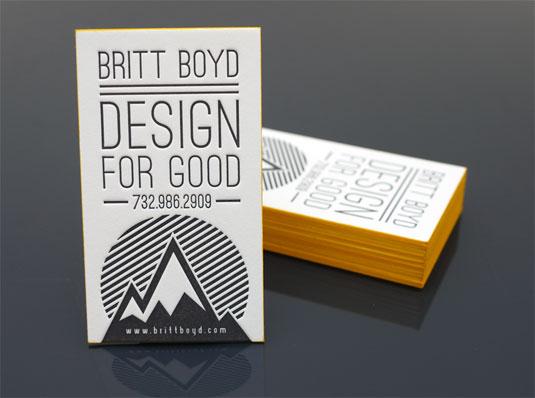 Britt Boyd contact card design