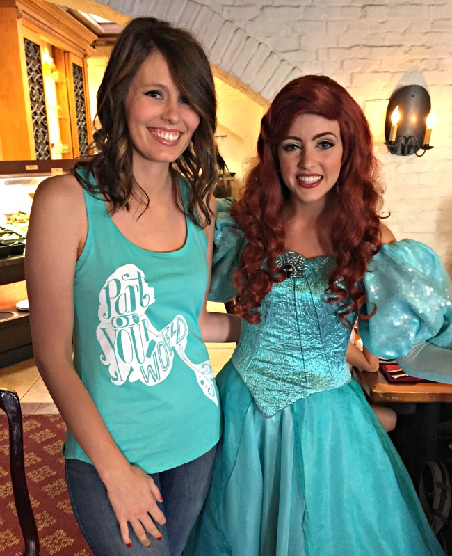 Disney World Recap - childhood dream come true meeting Ariel at Akershus (Epcot)