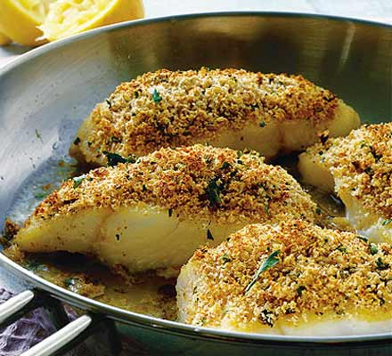 Herb Crusted Fillet of John Dory with Garlic and Mustard Cream Sauce ...
