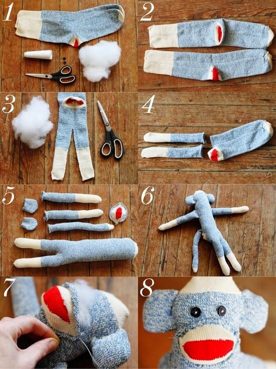 DIY: Peluche de Monito a partir de un par de calcetines
