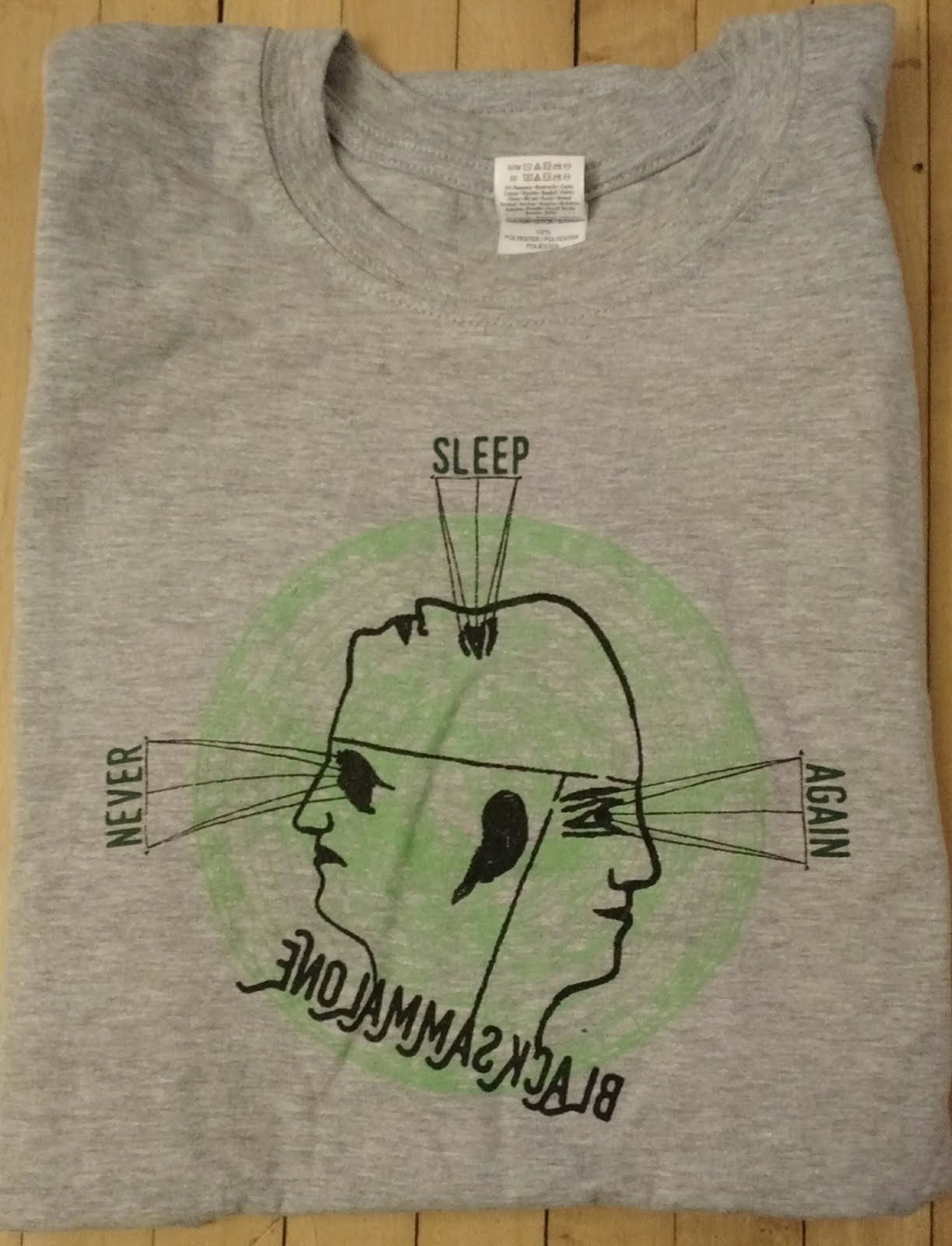 $10 - Never Sleep Again T shirt / Gildan Softstyle 100% cotton T