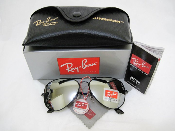 black mirrored ray ban aviators  smidaibrahim: my first product