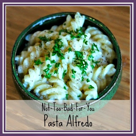 Pasta Alfredo with a healthier sauce.  Still delicious, without all the calories!