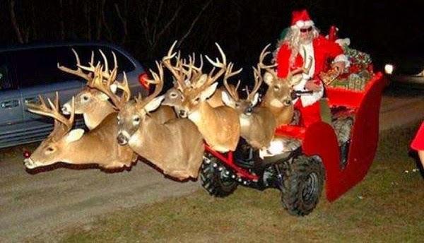 Père Noël en motoculteur, la grande classe !