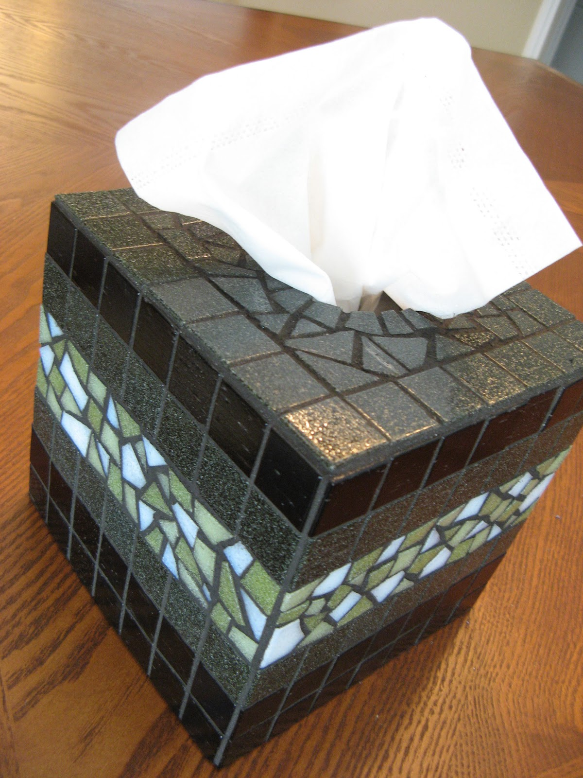 Susan Snyder  Mosaic Tissue Box Cover