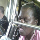 Dai eu estava com tanto sono que acabei domindo de nariz no metro de sao paulo
