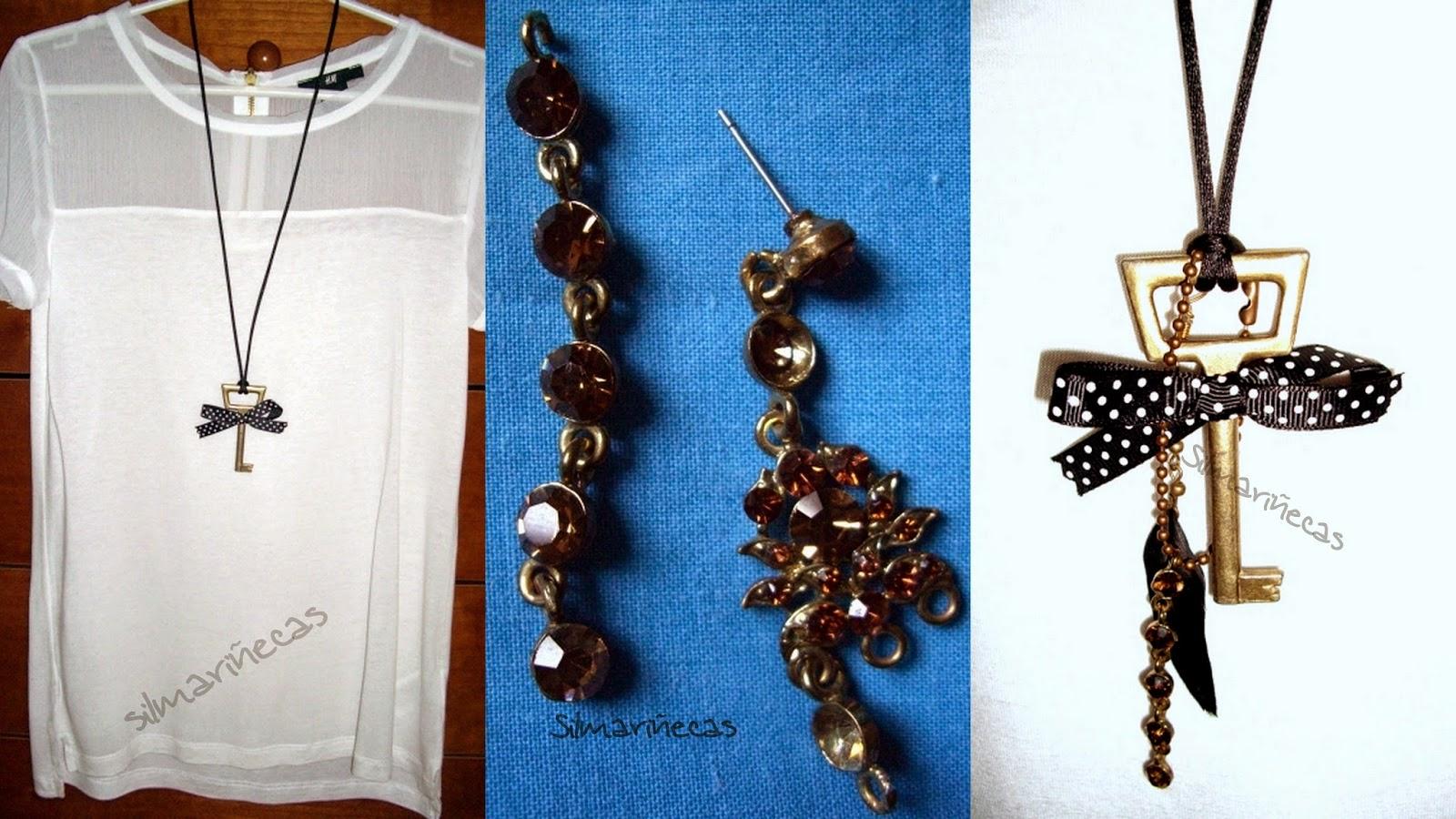 cómo hacer un collar con restos-
