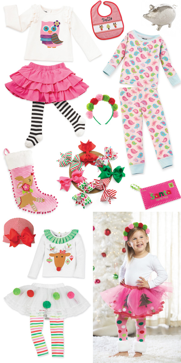 owl skirt set reindeer stocking red jumbow striped hat reindeer pom pom tutu set holiday hair bow wreath christmas tutu letter to santa - Mud Pie Christmas Pajamas