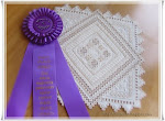 1º Premio en el 33º Annual Hardanger Embroidery Design Contest