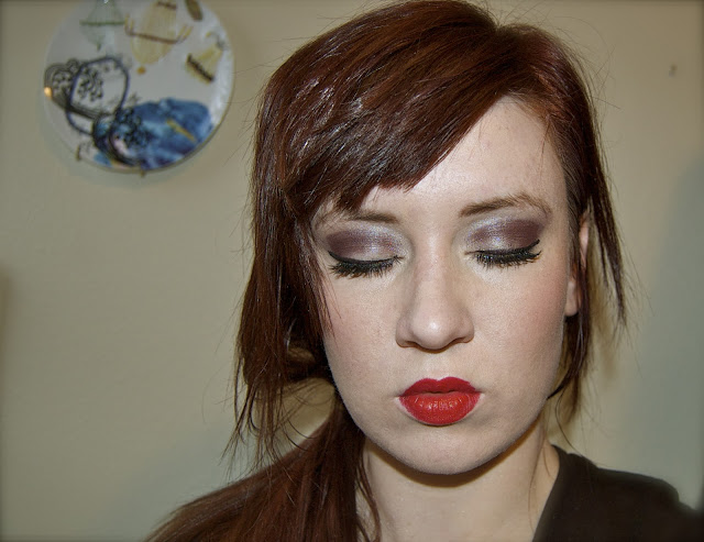 lorac eyeshadow, illamasqua lipstick, style of your own blog, red lips
