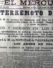 TERREMOTO VALPARAISO, 16 agosto 1906