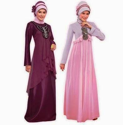 koleksi baju muslim sifon tumpuk