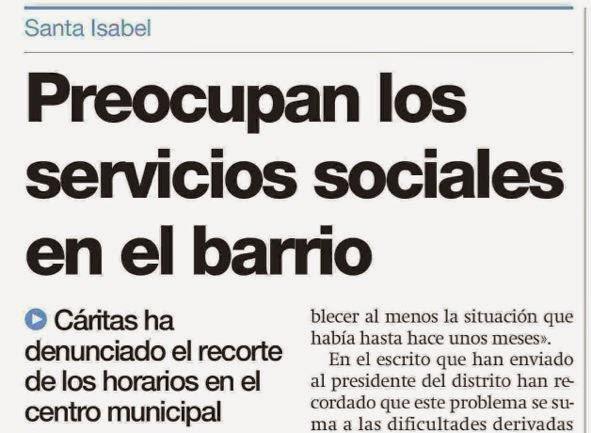 Servicios sociales ayuntamiento de Zaragoza recortes