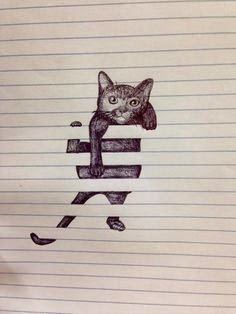 gato entre líneas