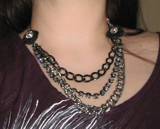 Betsey Johnson Three Row Necklace