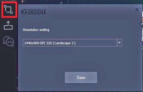 Resolusi Droid4X
