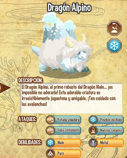imagen del dragon alpino y sus caracteristicas