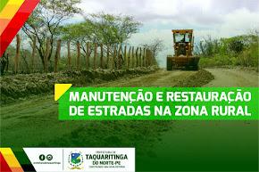 recuperação das estradas na zona rural