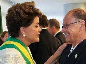 Dilma Roussef com Edir Macedo