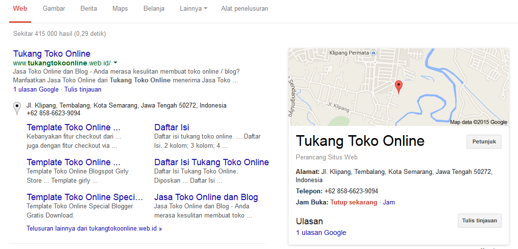 manfaat google bisnis di search engine