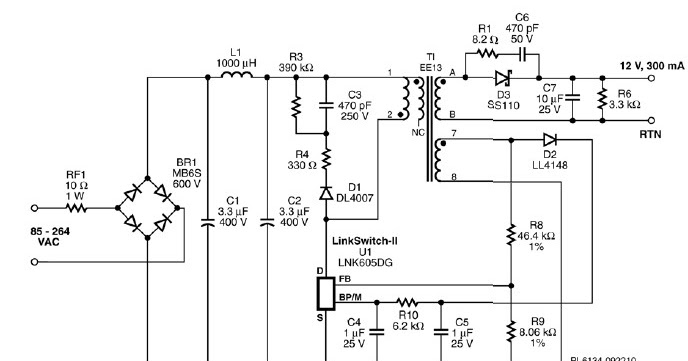 gu10 led light bulbs driver schematic