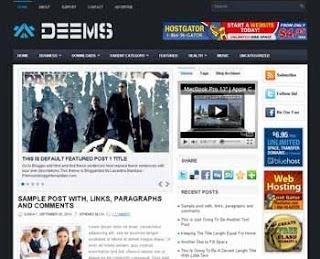 Deems Blogger Template