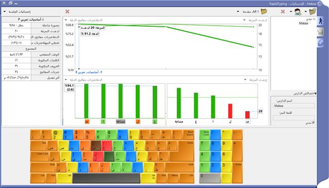 البرنامج العالمي لتعليم الكتابه على الكيبورد بسرعة rapidtyping 4.6.6