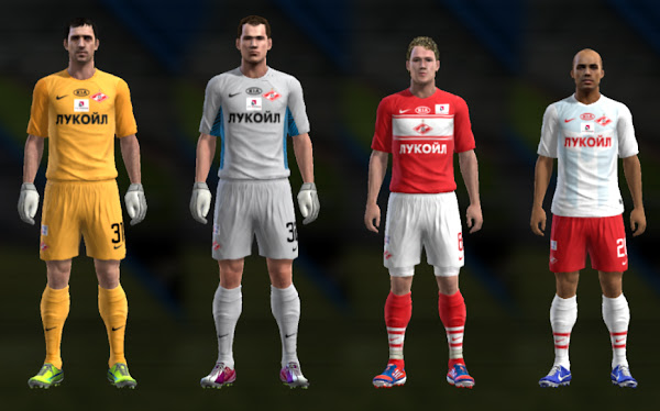PES 2013 Spartak Moscow 2012/13 Kits by TheNamesJER