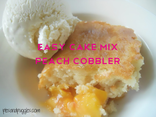 Cake Like Peach Cobbler Recipe