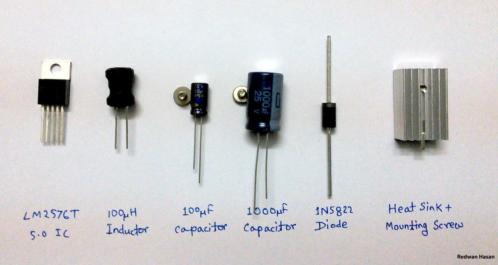 Scavengers Blog 2014 How Do Capacitors Work In A Circuit Integrated Lm2576 50 2 Capacitor One 100uf 50v 1000uf 16vlow Esr Will Be Better 3 Inductor 100uh