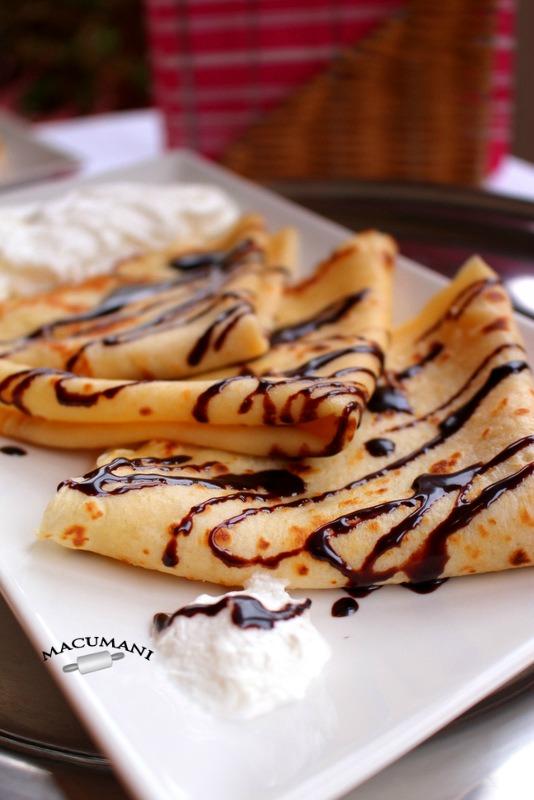 Receta de crepes dulces. Macumani