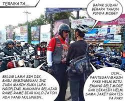 Gambar Meme Unik dan Aneh Konvoi Motor Gede (MOGE) di Jogja.