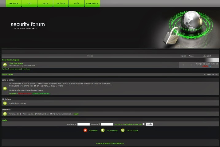 Security Forum PhpBB Theme