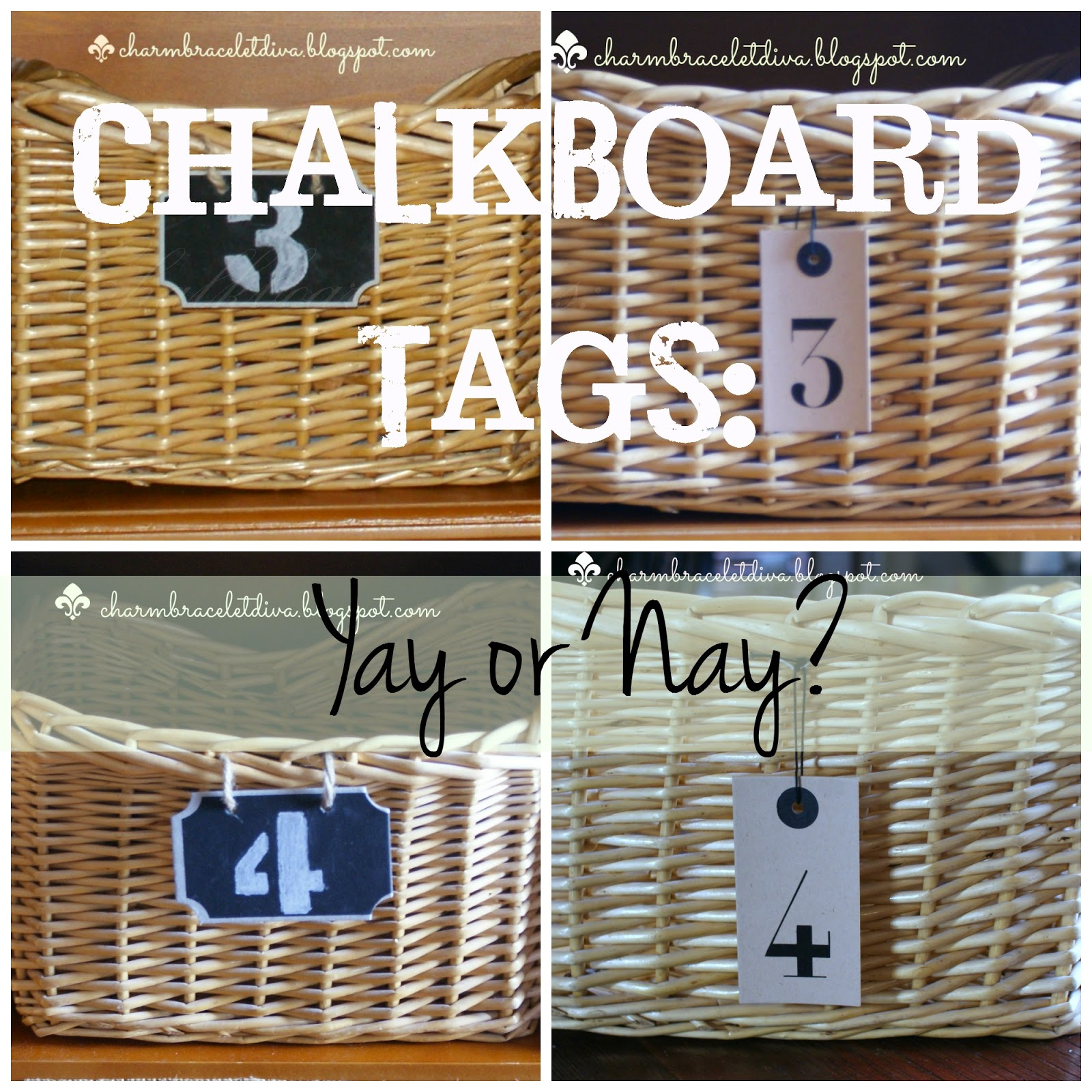 storage basket number tag collage