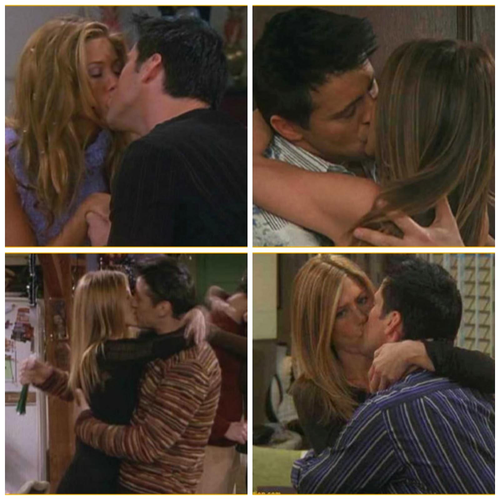 Besos de Joey y Rachel de la serie Friends