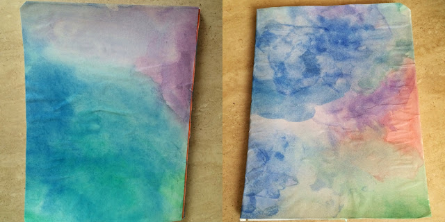 DIY Back to school aquarelle beau cahier