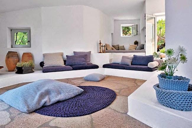 Mi rinc n de sue os un sal n con muebles de obra for Muebles para bano hechos en casa