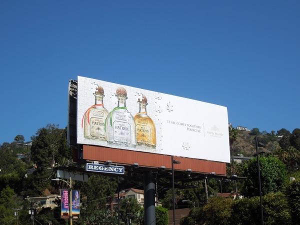 Patrón Tequila trio jigsaw billboard