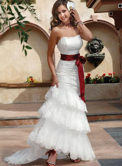 White wedding dress with a red bow red and black short homecoming white wedding dress with a red bow a wedding addict timeless red and white dresses junglespirit Gallery