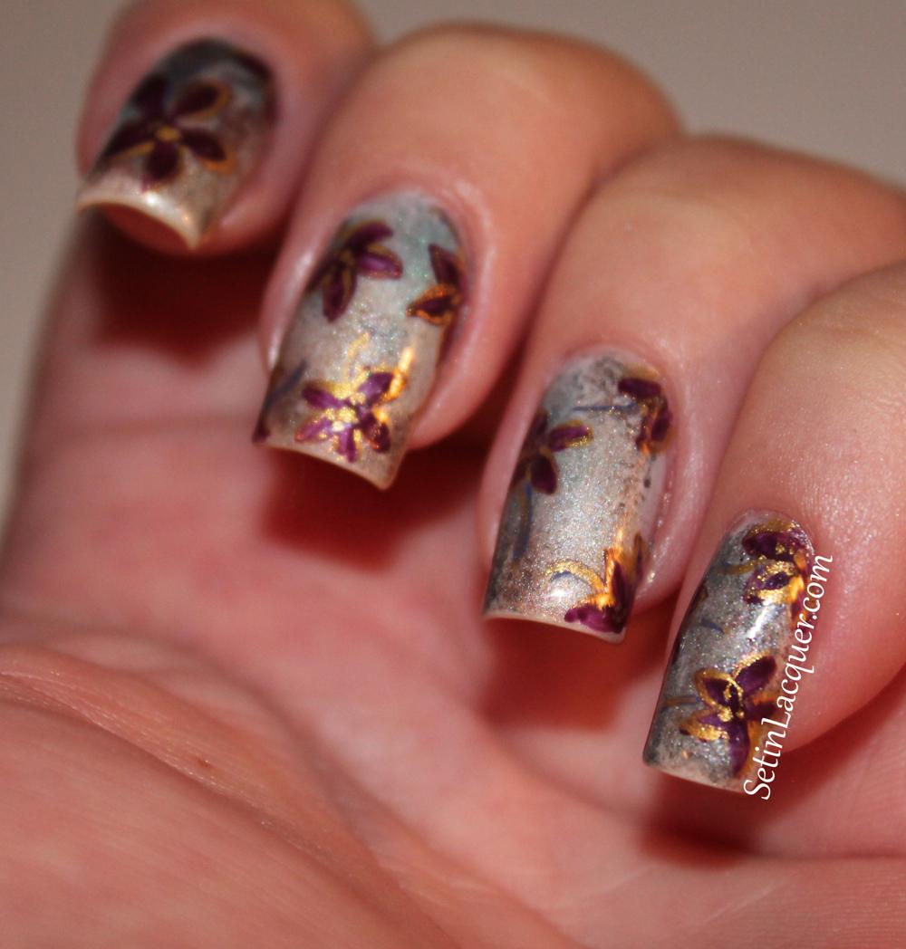 Eye shadow nail art