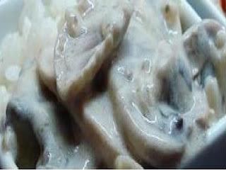 Champiñones a la crema