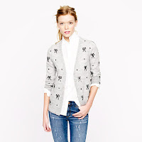 J. Crew Sequin Bow Cardigan