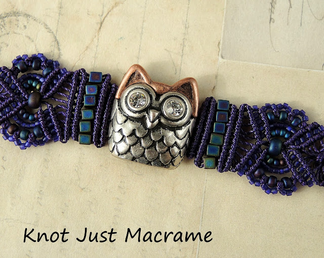 Purple owl bracelet