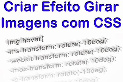Efeito Girar (Rotacionar) Imagens com CSS