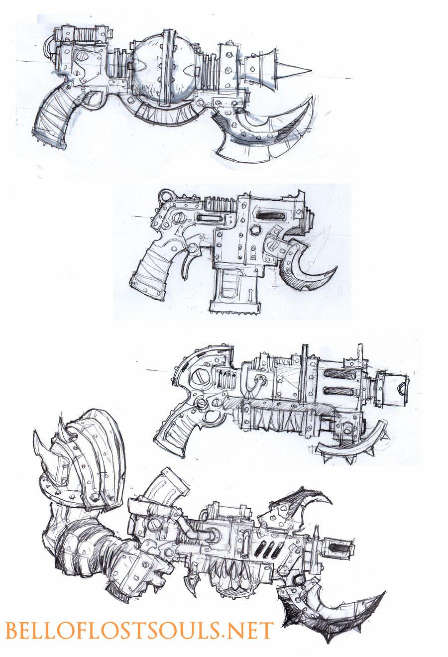 [mantic] fait des orks... premières photos! Marauder+Trooper+Weapons+Mantic+Games
