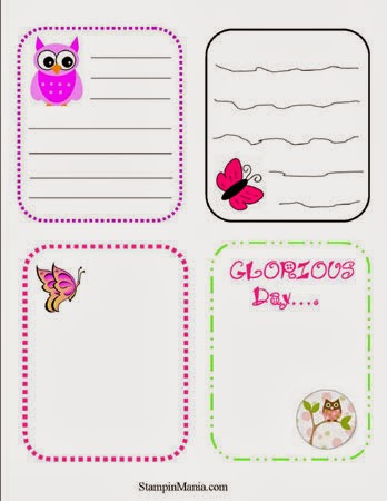 Journaling Card Printables - FREE