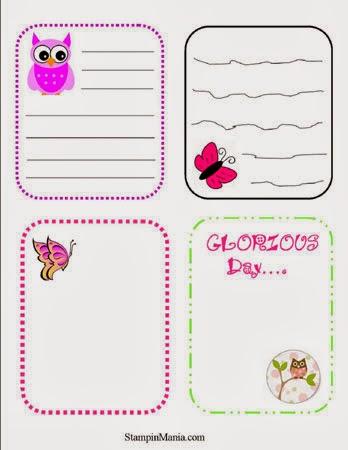 Journaling Card Printables - FREE