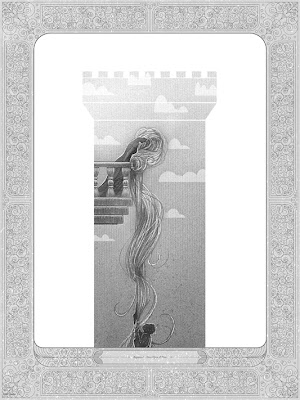 """Rapunzel"" Once Upon A Time Standard Edition Screen Print by Kevin Tong"
