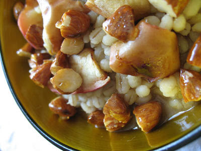 Barley Porridge with Honeyed Almonds and Roasted Apples